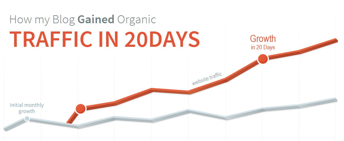 How my Blog Gained Organic Traffic in 20Days